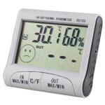 Trixes Thermometer und Hygrometer - Produktfoto - Diesplay im eingeschalteten Zustand zu sehen