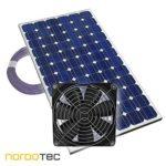 Der Inhalt - Lüfter, Kabel und Solarpaneel