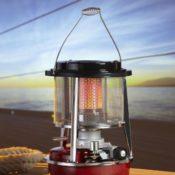 Produktfoto von der Petroleumheizung von der Firma Fujix - zu sehen ist die Heizung auf einem Tische stehend
