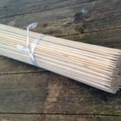 200x Bambusstäbe aus Bambussplitt - 60 cm lang - Produktbild