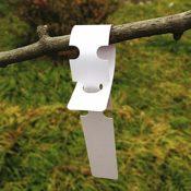 200x weiße Kunststoff-Pflanzenetiketten - 2CM * 20CM