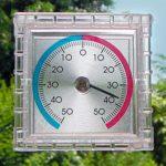 Analoges Thermometer zum Aufhängen oder hinstellen